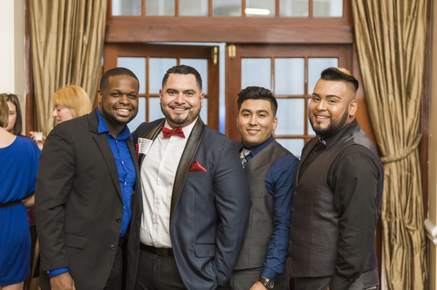 125 Jeff Robertson, from left, Chris Palacios, Uriel Gonzalez and John Michael Alvarado at the HAA inaugural 40 under 40 party September 2014