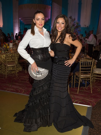 Carmina Zamorano, left, and Nancy Arreguin at the Houston Ballet Ball February 2014