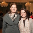 Anne Whitlock, left, and Shazma Matin at the Interfaith Ministries luncheon January 2014