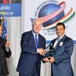 Dr. Neil Badlani, from left, John Cornyn and Dr. Devinder Bhatia at the IACCGH Gala October 2014