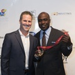Chad Hedrick, left, and Marshall Faulk at the Moran Norris Foundation Gala
