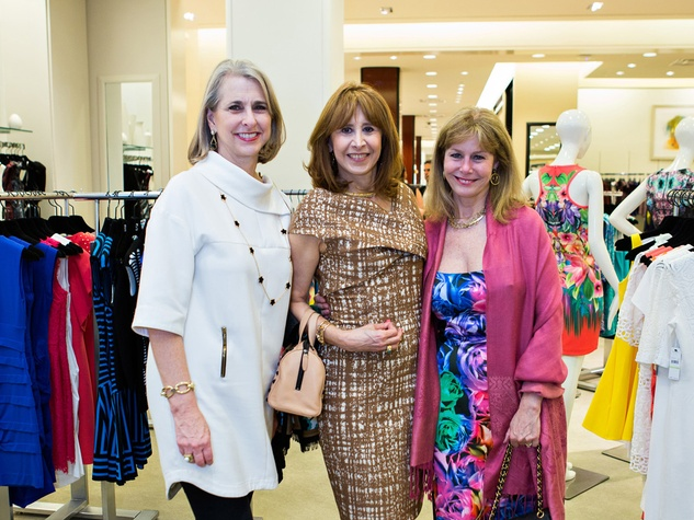 Susan Hansen, from left, Vicki West and Cheryl Byington at the Houston Symphony Retrospective Exhibit event March 2014