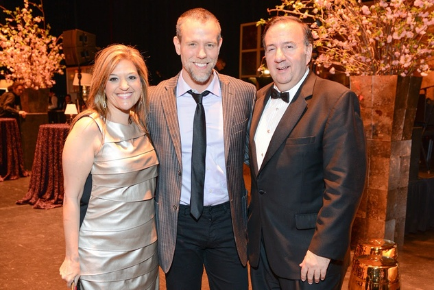 Tuts Gala 2015 Laura & Dan D'Armond with Adam Pascal