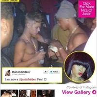 Justin Bieber at Houston strip club October 2013