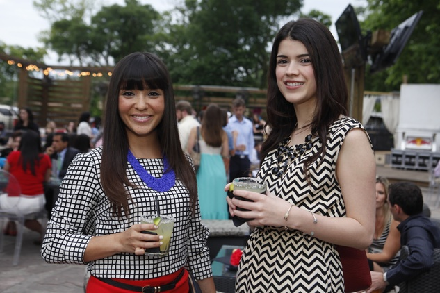 Suzie Flores, left, and Paulina Radpay at Friends of DePelchin's Fiesta May 2014