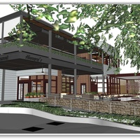 Hungry's Cafe Rice Village rendering