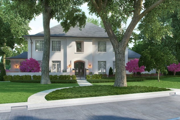 Houston, News, Shelby, Sudhoff Hampton Lane Collection, April 2015, 6018 Pine Forest - front elevation