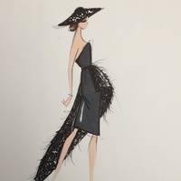 Designer sketches fall 2014 Christian Siriano January 2014