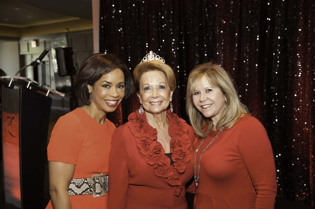 Gina Gaston, from left, Philamena Baird and Cyndy Garza-Roberts at the Go Red For Women luncheon May 2014