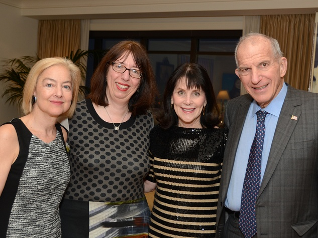 Sarah Tanguy, from left, Alison de Lima Greene and Ellen and Stephen Susman at the MFAH Contemporary party January 2014