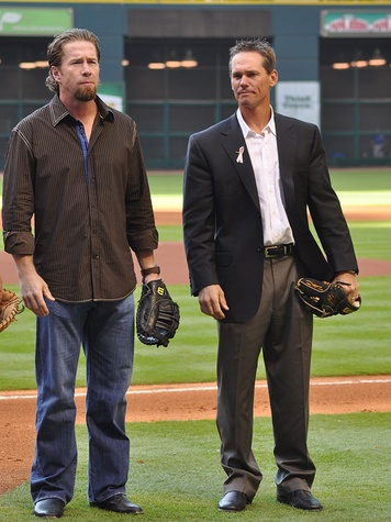 Jeff Bagwell and Craig Biggio on opening day April 6, 2009 The Killer Bs
