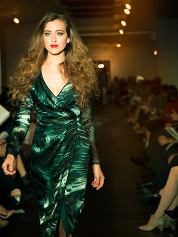 1 David Peck fashion show gowns October 2014