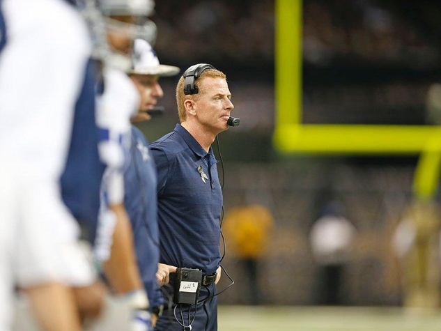 Coach Jason Garrett of the Dallas Cowboys