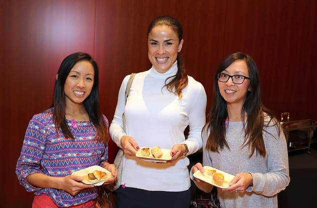 71 Christina Dang, from left, Melissa Permé and Lien Pham at the Asia Society Texas Center Kobe beef Cook-off December 2014