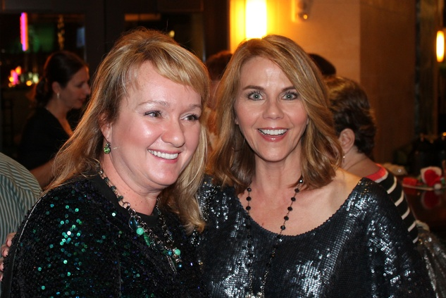 25 Shannon Gornick, left, and Tanis Morse at The Woodlands cocktail reception and gingerbread doghouse auction December 2014