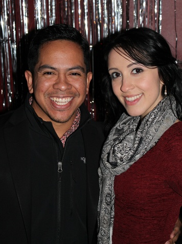 7 Daniel Ortiz and Kahlia Castellanos at the Eleven XI party November 2013