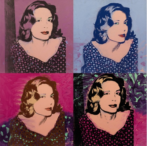 'A Group of Four Portraits of Sao Schlumberger' by Andy Warhol