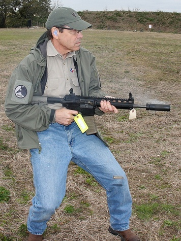 Rick Perry with gun