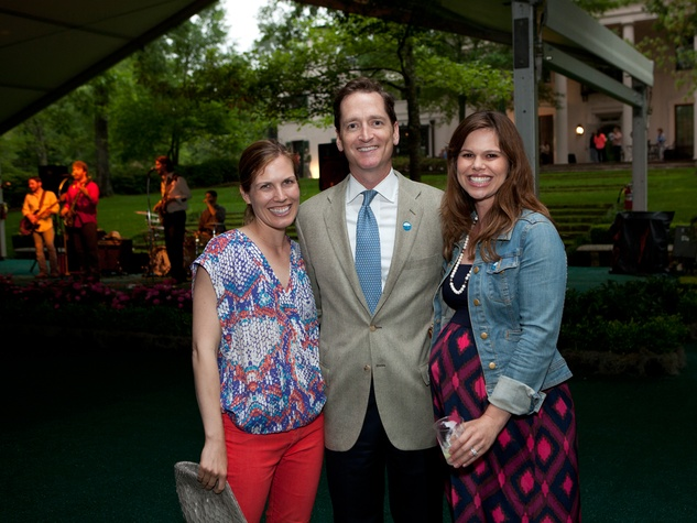 Nancy Kate and Mark Prescott, from left, with Kirk Forrester at Bayou Bend's Bubbly on the Bend April 2014