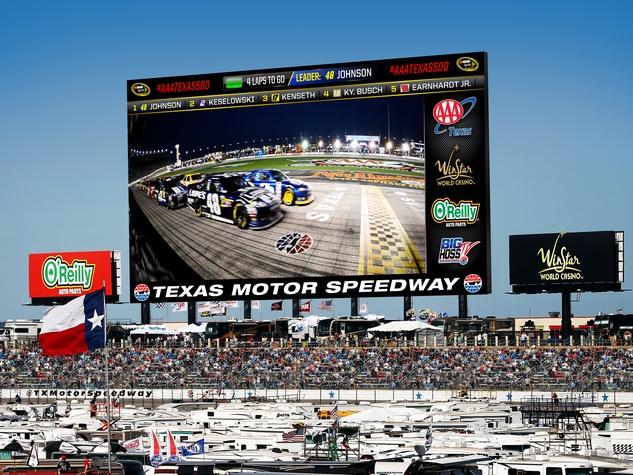 Texas motor speedway set to unveil most mega hd video for Mega motors houston tx