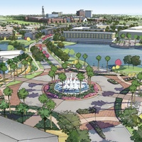 Imperial Sugar, Sugar Land, renderings, fountain