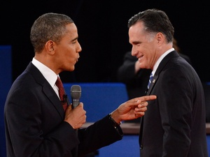 Presidential debate, Barack Obama, Mitt Romney, October 2012