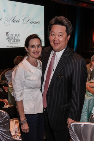 LouAnn and Alex Chae at the College of Biblical Studies Rising Star Dinner May 2014