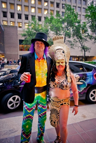 Houston S Wackiest Party Of The Year Crazy Costumes Rock Art Car