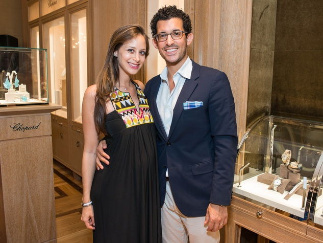 News, Shelby, Chopard opening, Oct. 2015, Joy Doustan, Michael Doustan