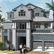 Seahorse Beach Club Galveston rendering house front