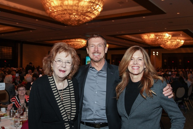 Kappy Muenzer, from left, with Frank and Gloria Meszaros at the National Philanthropy Day Awards November 2014