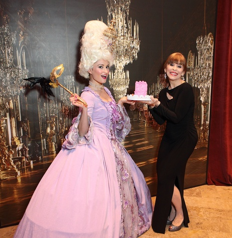 Actor Emily Neves as Marie Antoinette, Sandra Porter at Stages Gala 2017