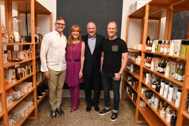 Marcus Sloan, Gracie Cavnar, Bob Cavnar, Shannon Hall at Recipe for Success Dress for Dinner event