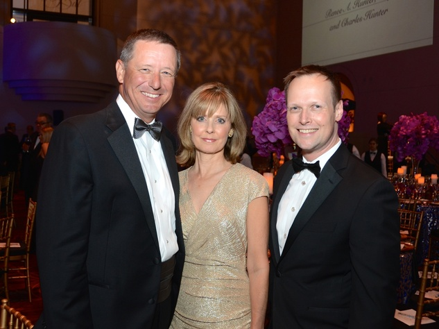 30 David Wuthrich, from left, Thecla Harper and David Chambers at the UNICEF Gala October 2014