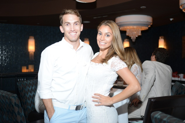114 Catherine and Blake Henshaw at the White Hot Summer Night Party at Eddie V's August 2014