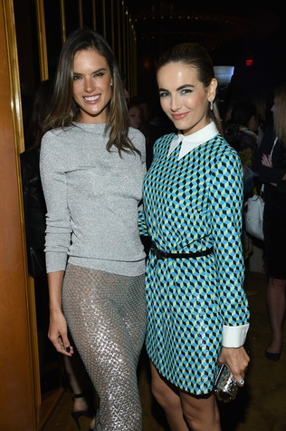 Camilla Belle and Alessandra Ambrosio at launch of Michael Kors Gold Fragrance