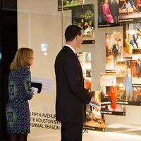 Christina and Mark Hanson at the Houston Symphony Retrospective Exhibit event March 2014
