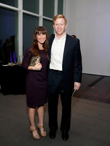 14 Megan Killion and Conor McEvily at the Menil Young Professionals party December 2013