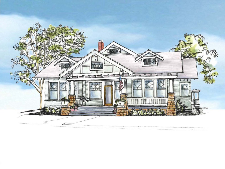 21 Newberry Campa Architects' rendering of the restored home's street front final elevation