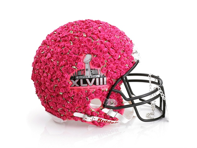 Betsey Johnson helmet for Bloomingdale's Fashion Touchdown