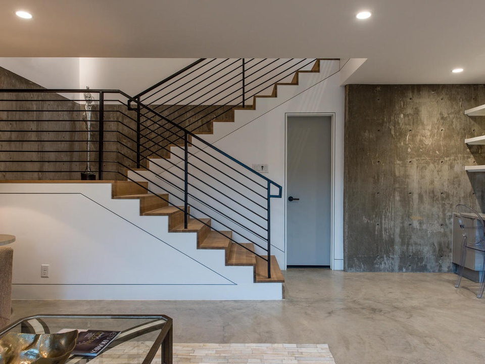 2016 Austin Modern Home Tour house 2708 Townes Lane Bercy Chen Studio stairs