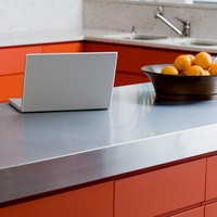 stainless steel kitchen countertop
