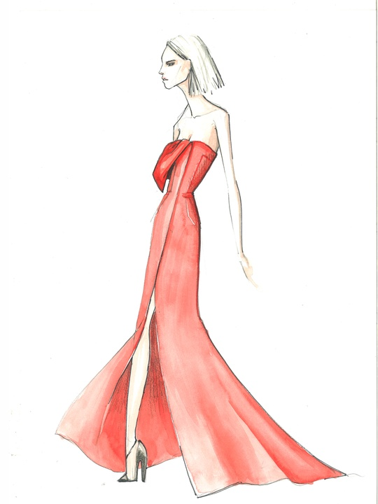 Deigners' sketches fall 2014 collections Bibhu Mohapatra