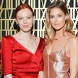 Karen Elson and Doutzen Kroes at Tiffany Atlas Collection