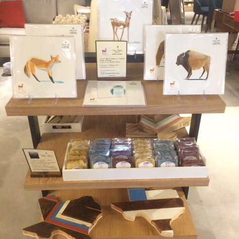 West Elm Local products at CityCentre store