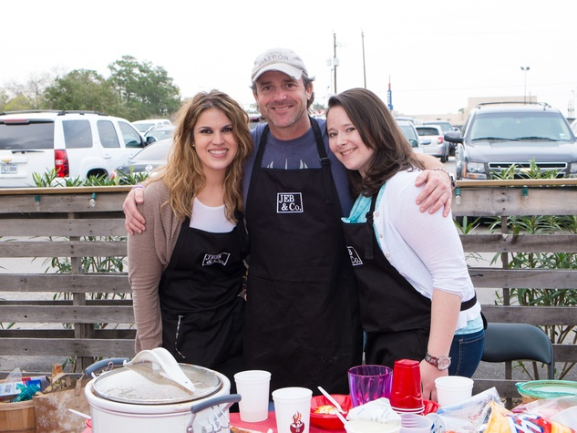 Erica Thomas, from left, Chris St. Laurent and AnneMarie Hovasse at the Casa de Esperanzas Young Professional Chili Cook-off February 2014