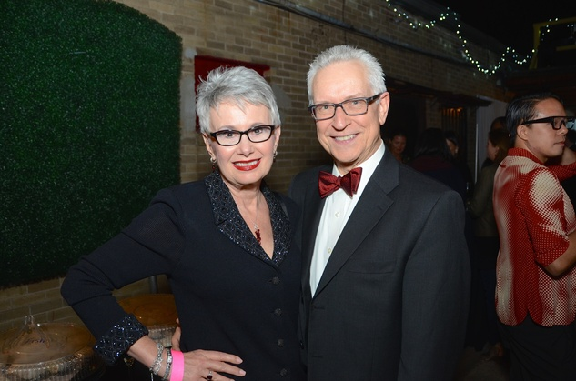 04 Rebecca and Robert LeBlanc at the DiverseWorks Fashion Fete November 2014