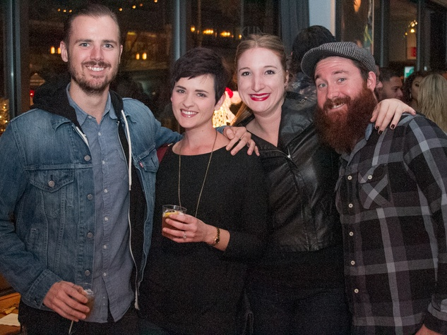 Woodford Reserve Movember Event at Kunst Gallery Zane Grant Erin Shorts Ashley Gregg Ross Bennett