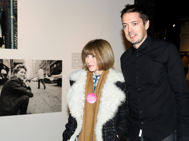 Anna Wintour, Marcus Wainwright, Rag & Bone exhibition, party
