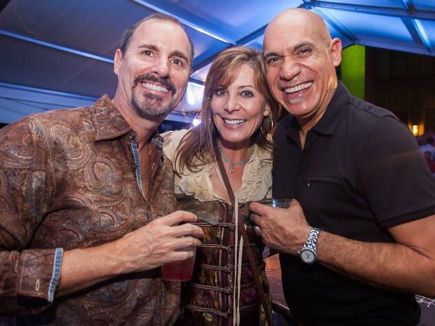 Chris Breining, from left, Heidi Armstrong and John Lopez at Bayou City Art Festival Downtown's Art Heist